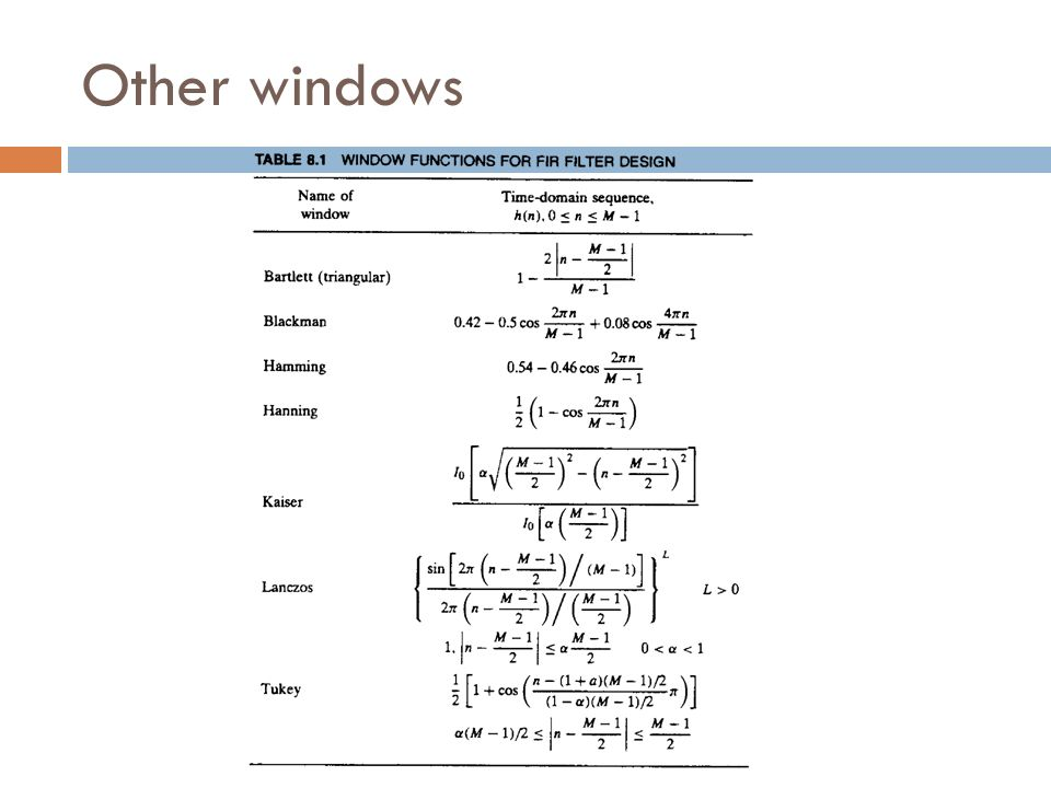 Other windows