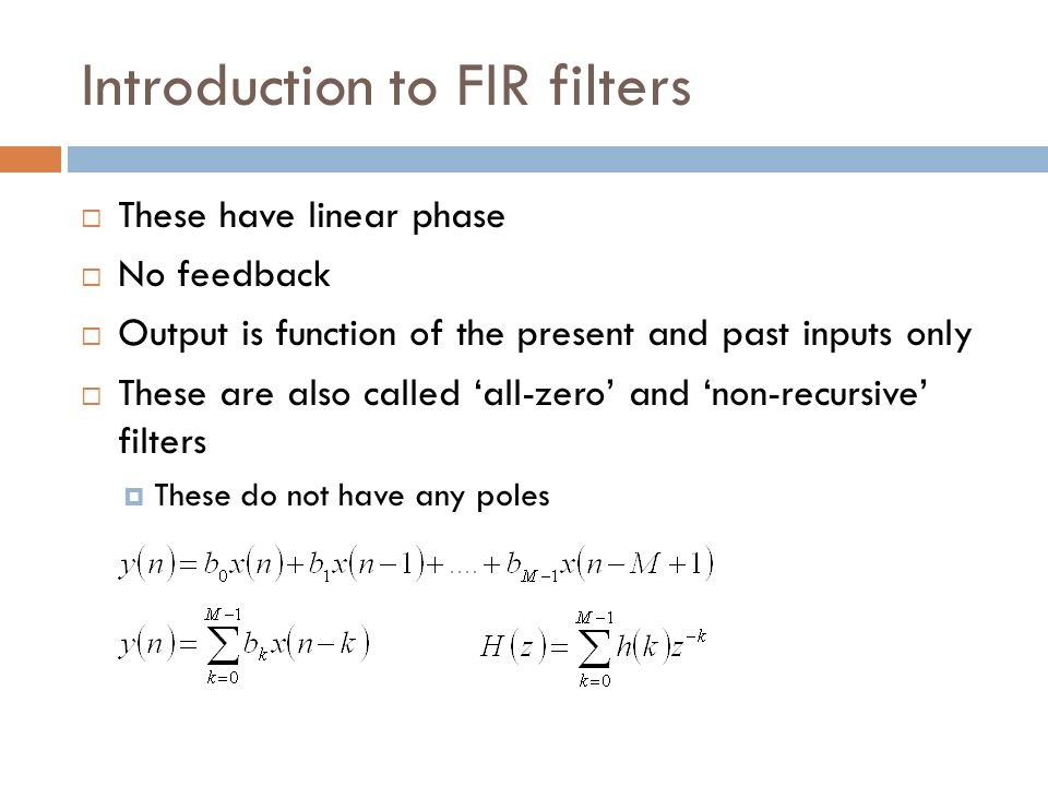 Introduction to FIR filters