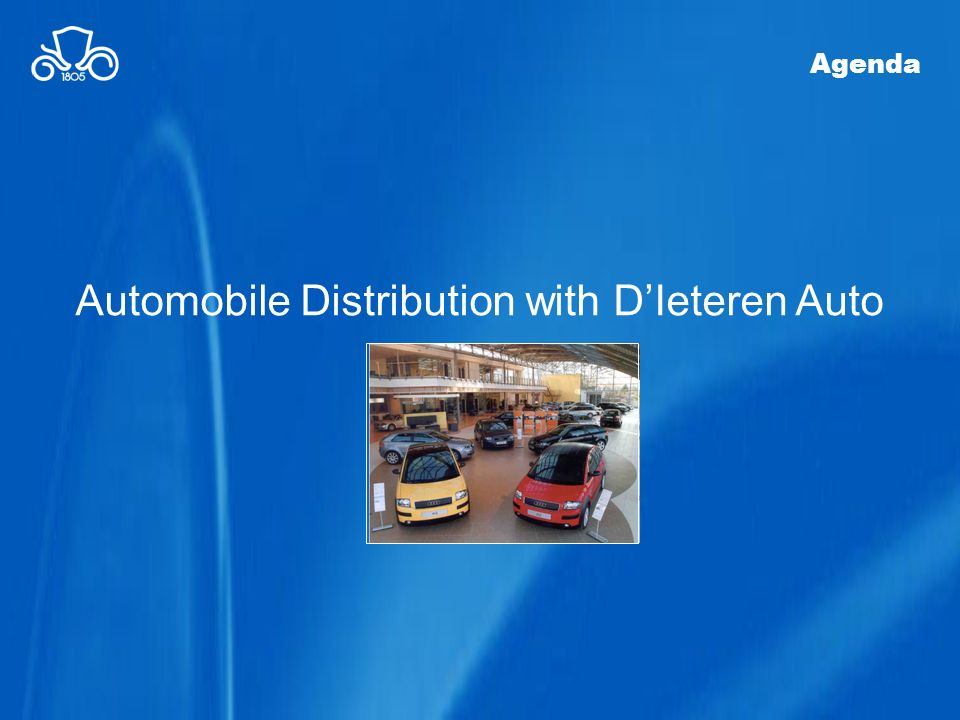 Automobile Distribution with D'Ieteren Auto