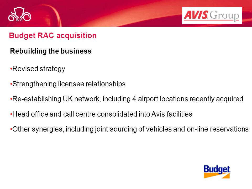 Budget RAC acquisition