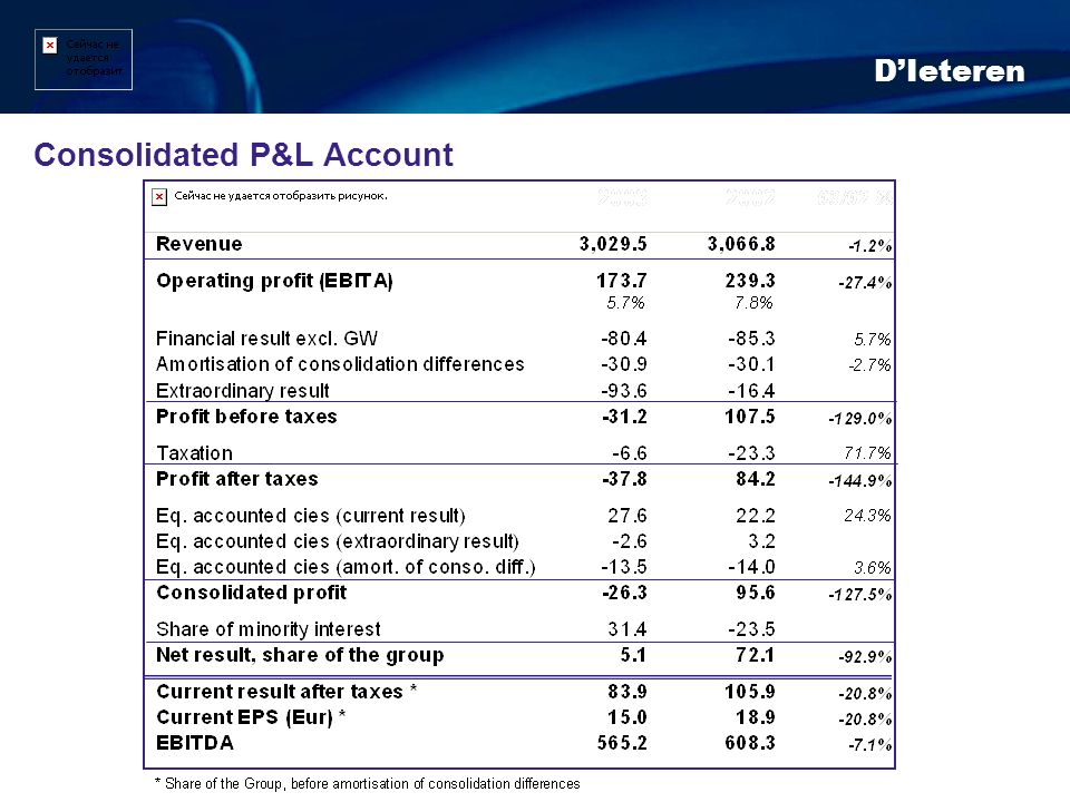 Consolidated P&L Account