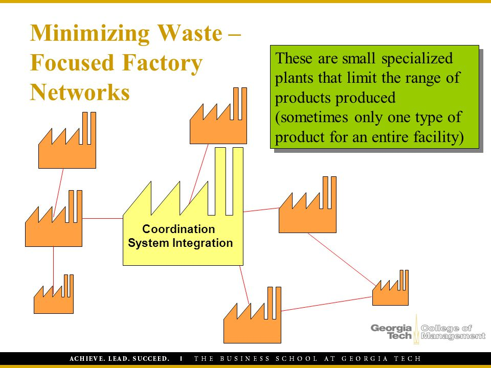 Minimizing Waste – Focused Factory Networks