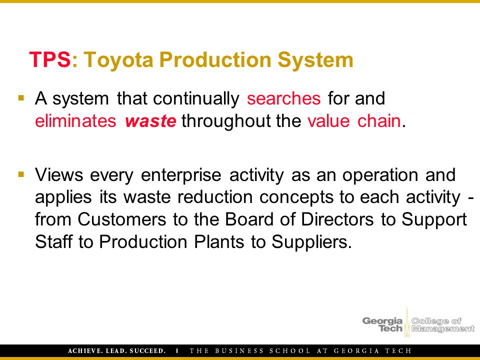 TPS: Toyota Production System