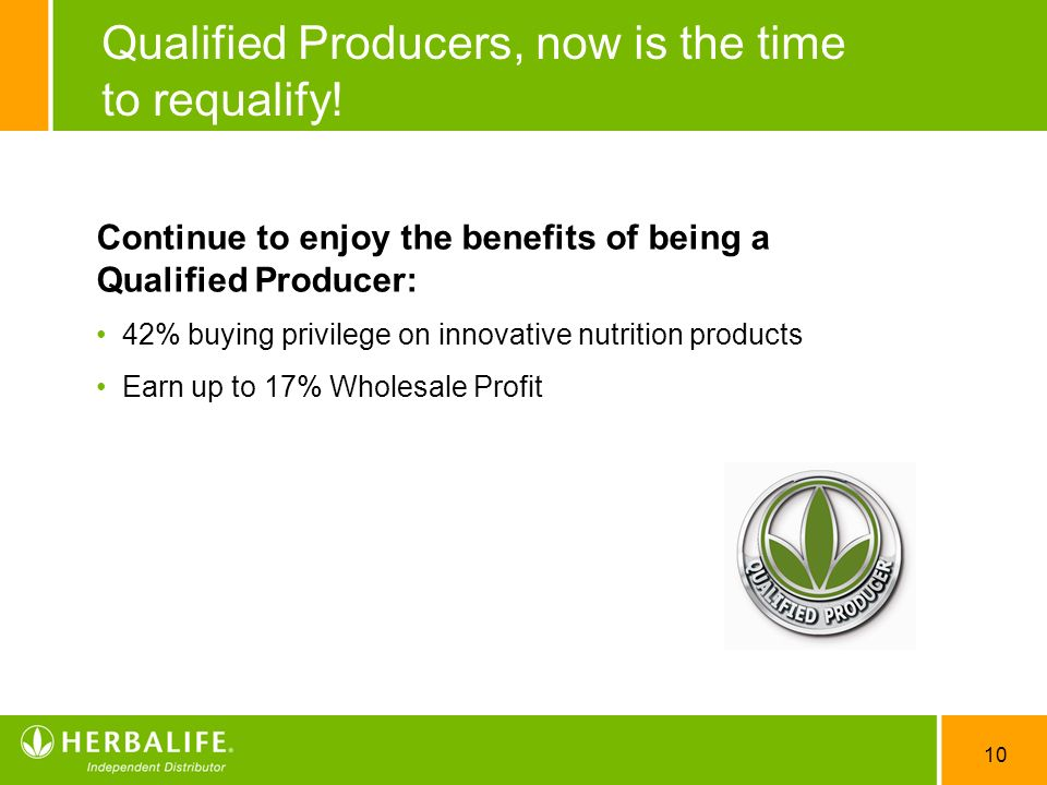 Qualified Producers, now is the time to requalify!