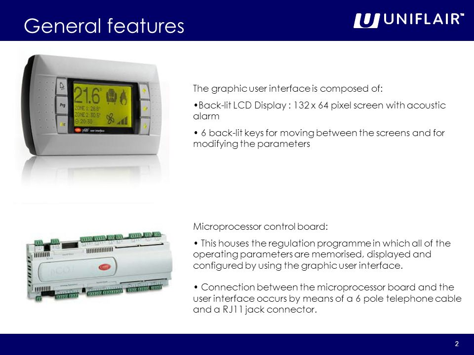 General features The graphic user interface is composed of: