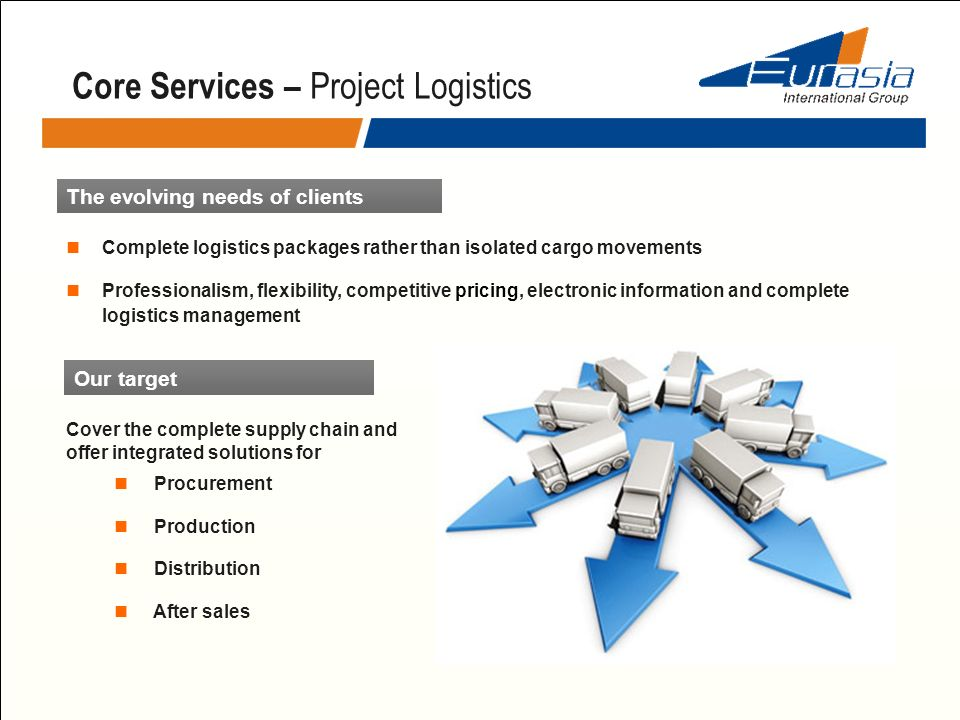 Core Services – Project Logistics
