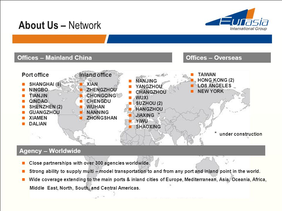 About Us – Network Offices – Mainland China Offices – Overseas