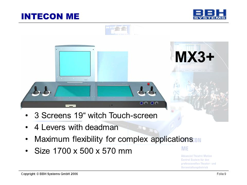MX3+ 3 Screens 19 witch Touch-screen 4 Levers with deadman