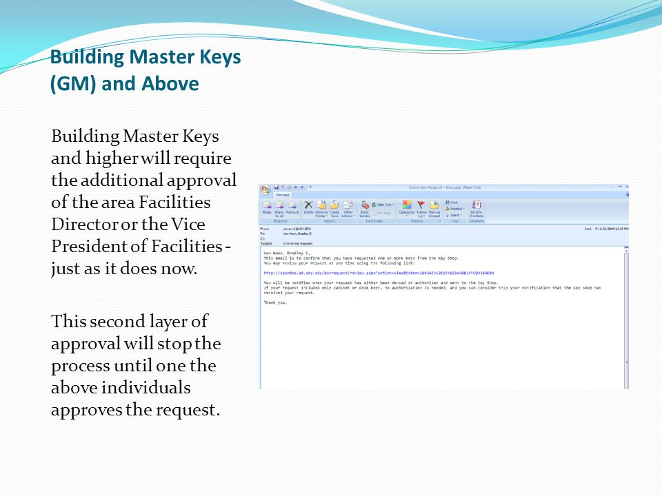 Building Master Keys (GM) and Above