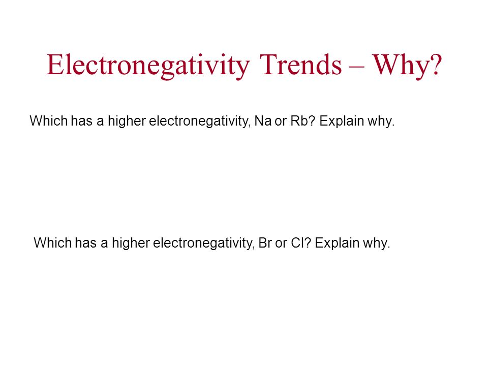 Electronegativity Trends – Why