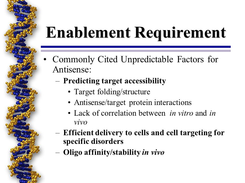Enablement Requirement