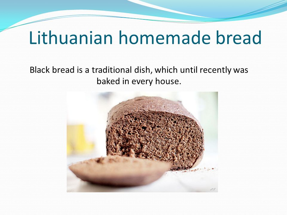 Lithuanian homemade bread