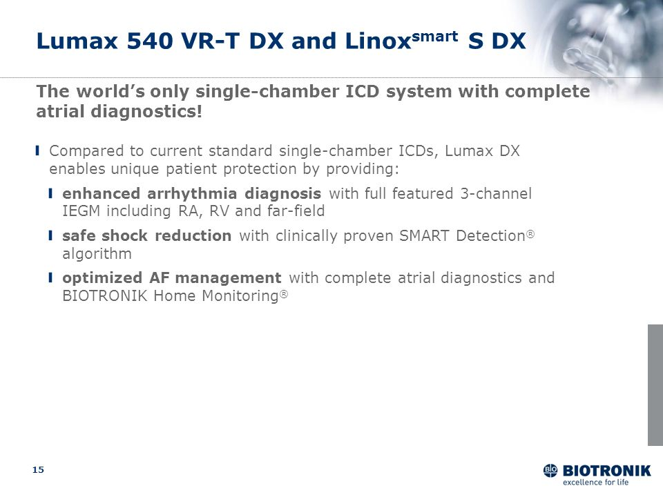 Lumax 540 VR-T DX and Linoxsmart S DX