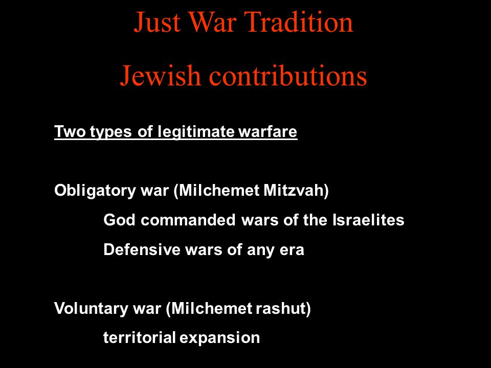 Just War Tradition Jewish contributions