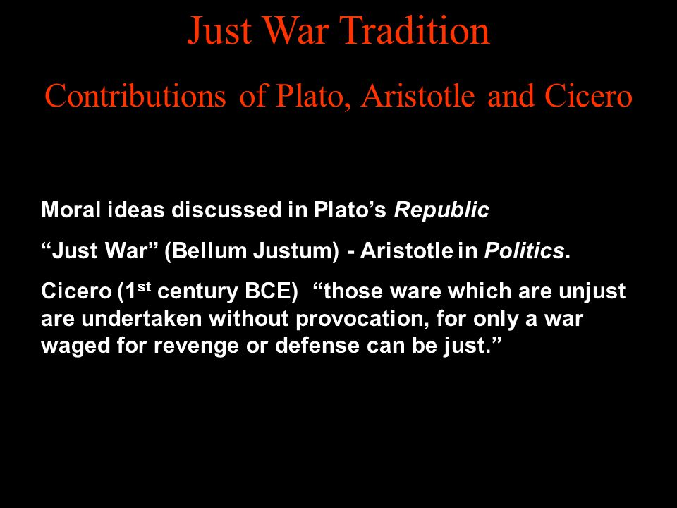 Contributions of Plato, Aristotle and Cicero