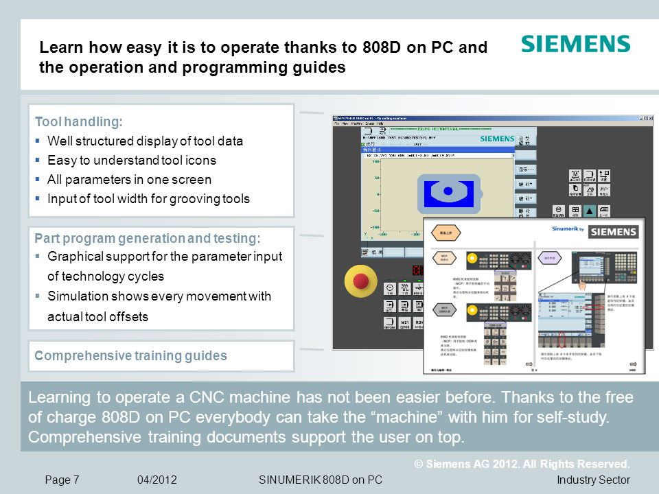 Learn how easy it is to operate thanks to 808D on PC and the operation and programming guides