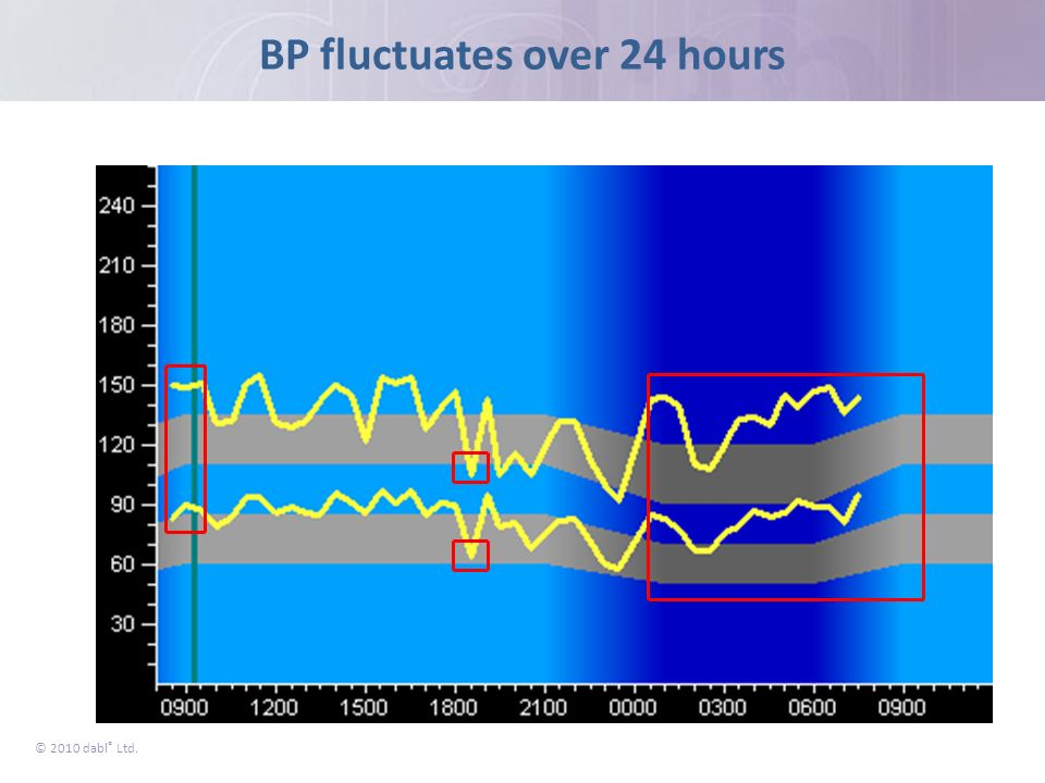 BP fluctuates over 24 hours