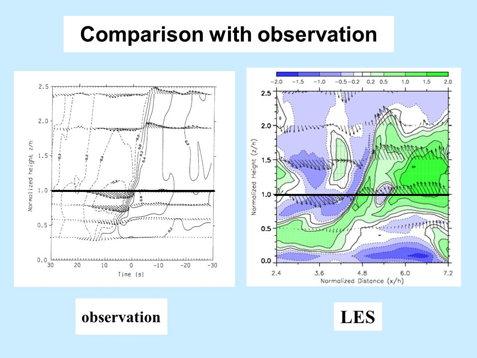 Comparison with observation