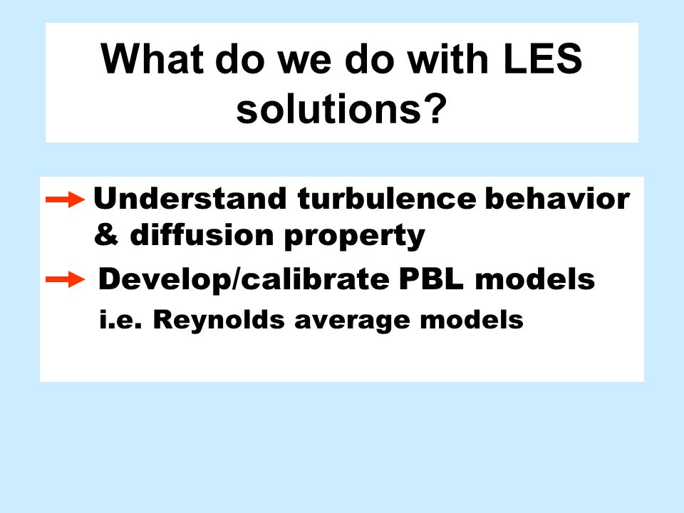 What do we do with LES solutions