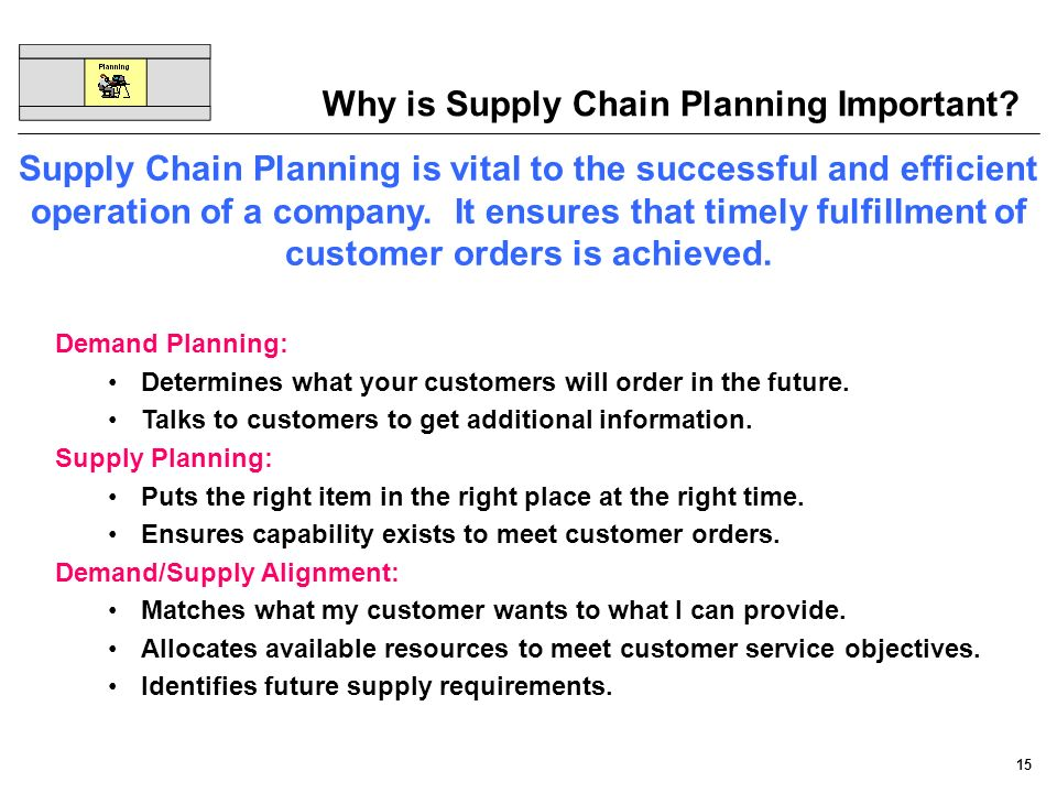 Why is Supply Chain Planning Important
