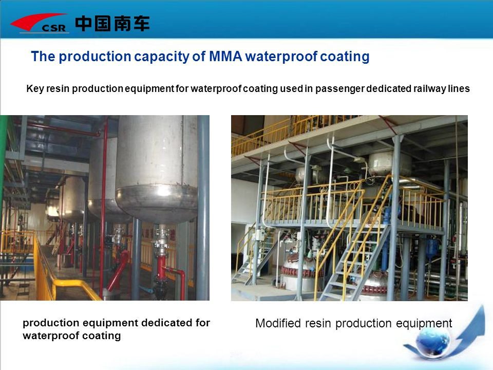 The production capacity of MMA waterproof coating