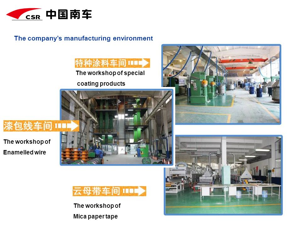 The company's manufacturing environment