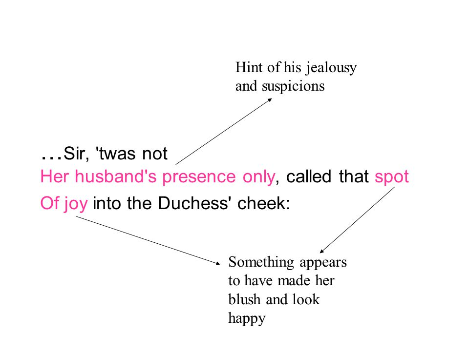…Sir, twas not Her husband s presence only, called that spot Of joy into the Duchess cheek: