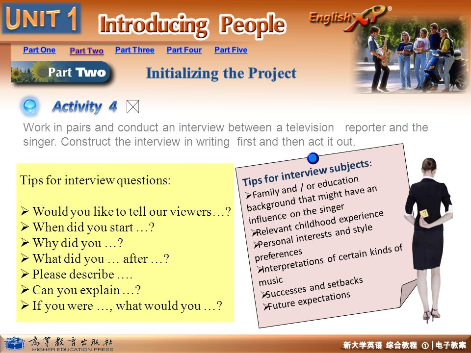 Activity 4 Tips for interview questions: