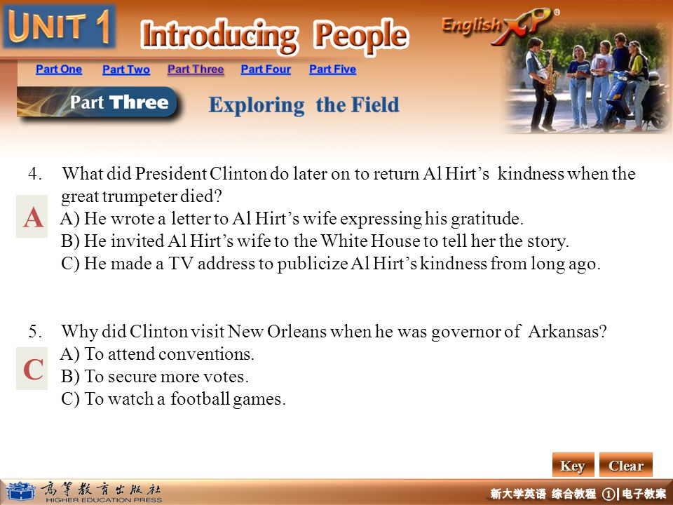 What did President Clinton do later on to return Al Hirt's kindness when the