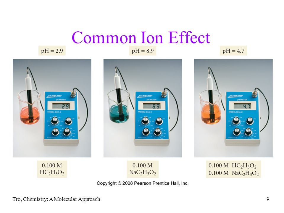 Common Ion Effect Tro, Chemistry: A Molecular Approach