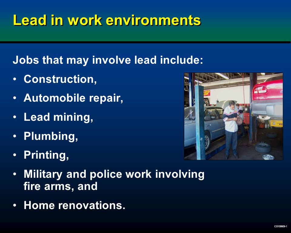 Lead in work environments