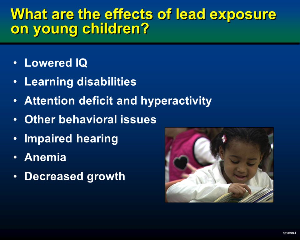 What are the effects of lead exposure on young children