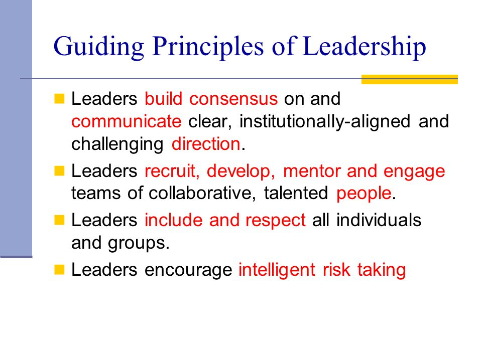 Guiding Principles of Leadership