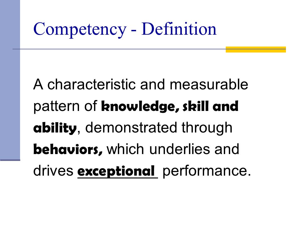 Competency - Definition