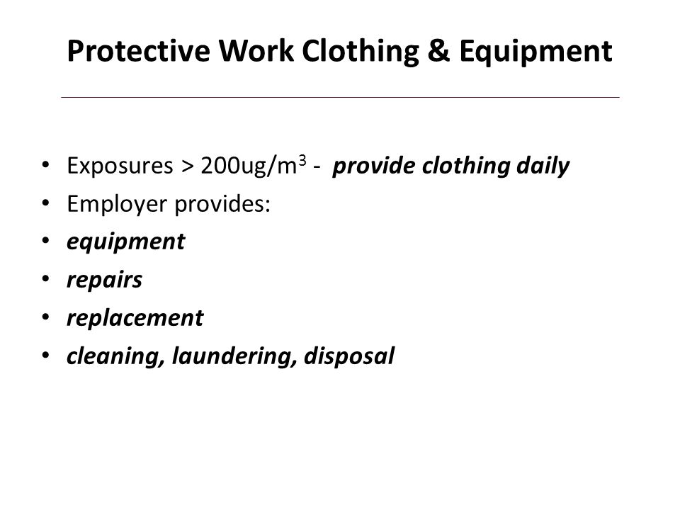 Protective Work Clothing & Equipment