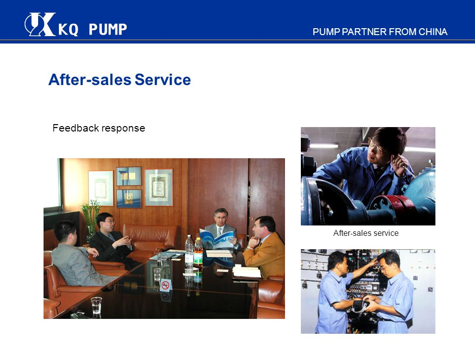 After-sales Service Feedback response After-sales service