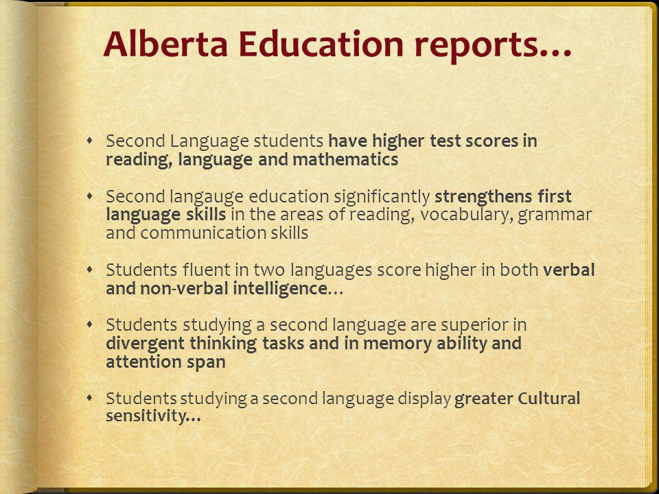 Alberta Education reports…