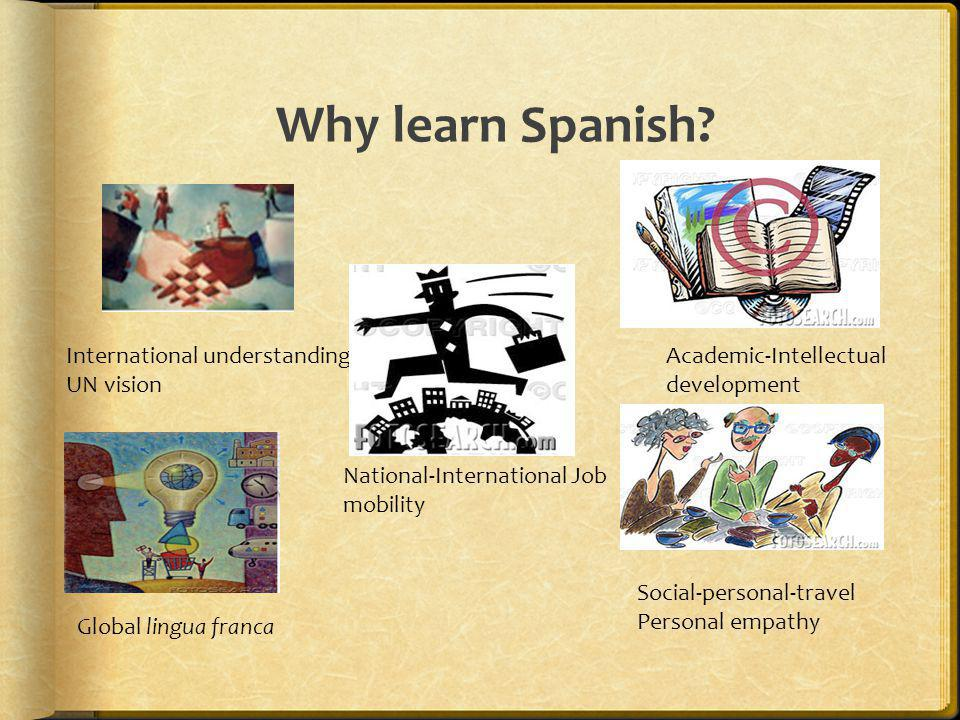 Why learn Spanish International understanding UN vision