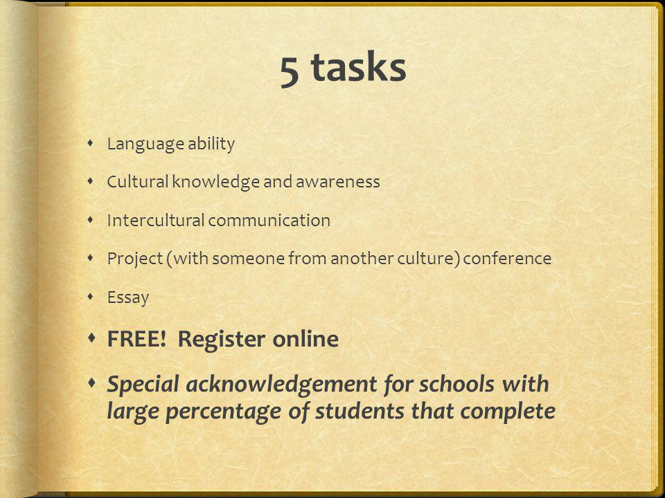 5 tasks FREE! Register online