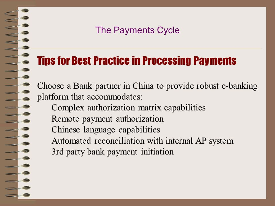 Tips for Best Practice in Processing Payments