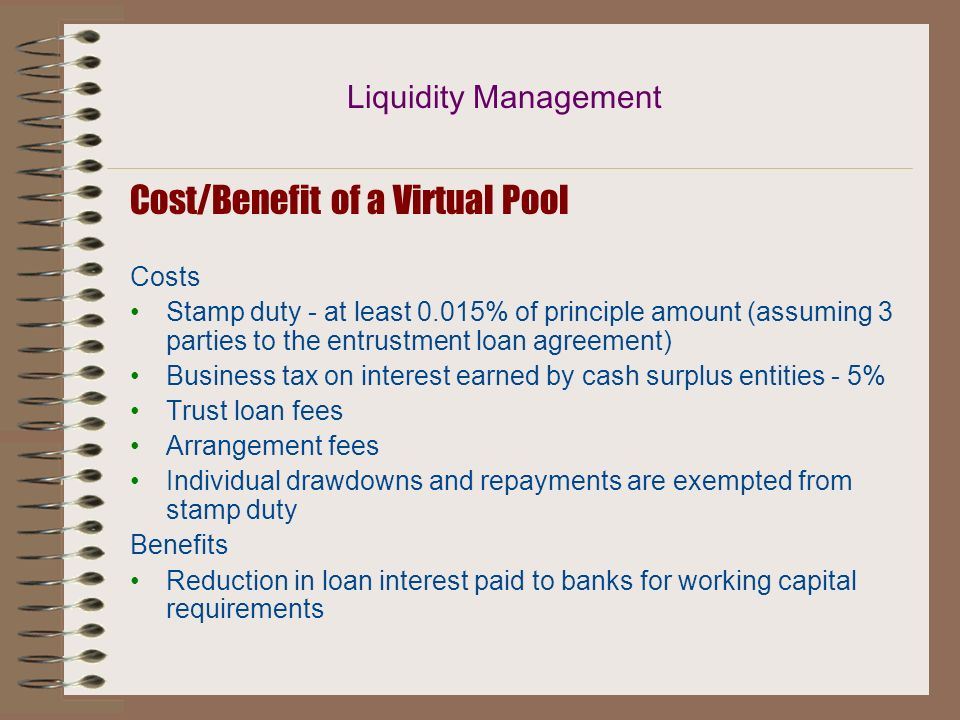 Cost/Benefit of a Virtual Pool