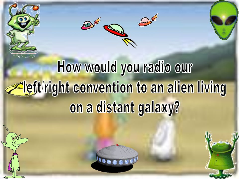 left/right convention to an alien living