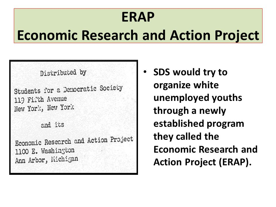 ERAP Economic Research and Action Project
