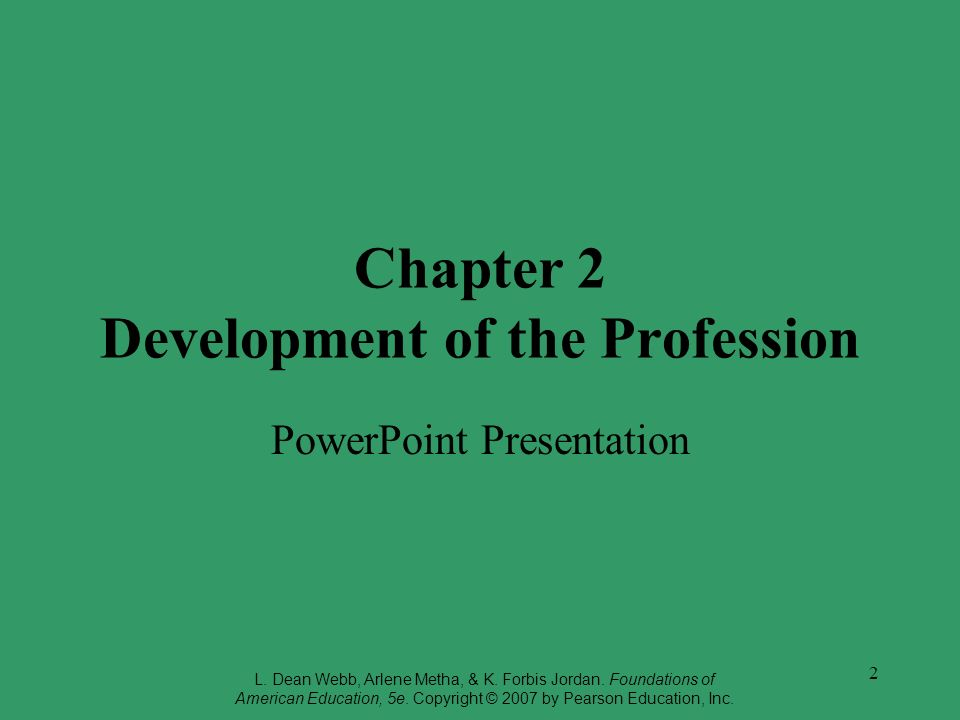 Chapter 2 Development of the Profession