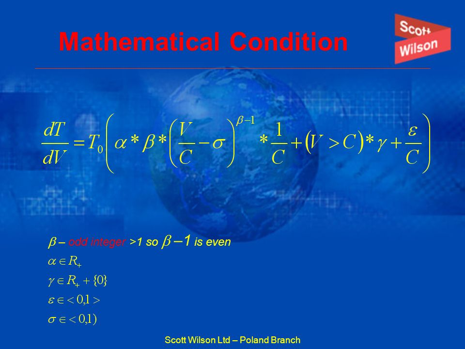 Mathematical Condition