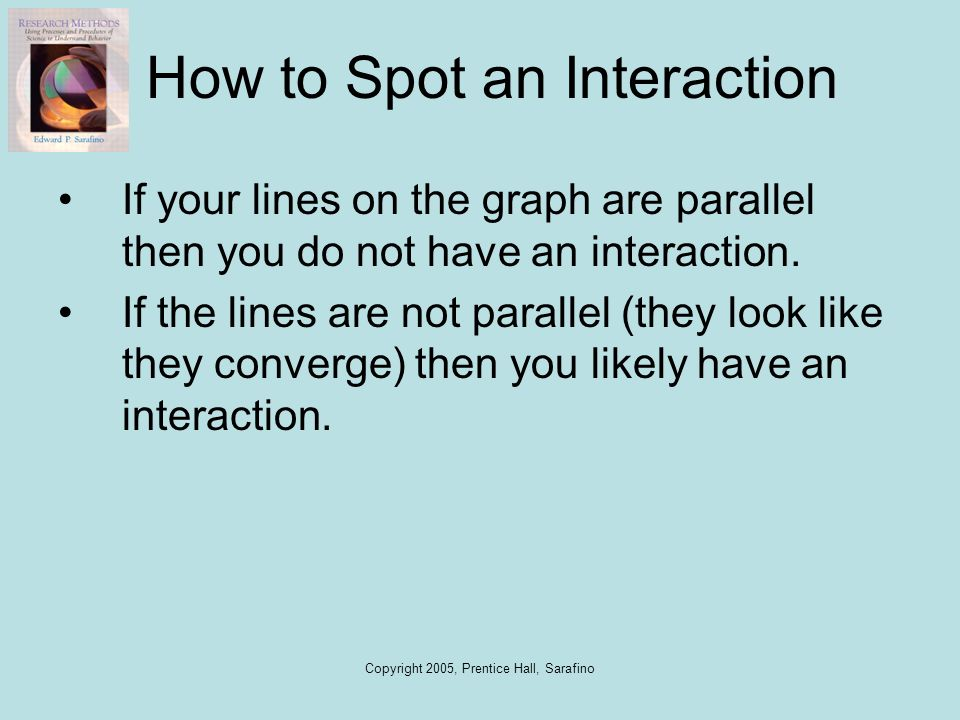 How to Spot an Interaction
