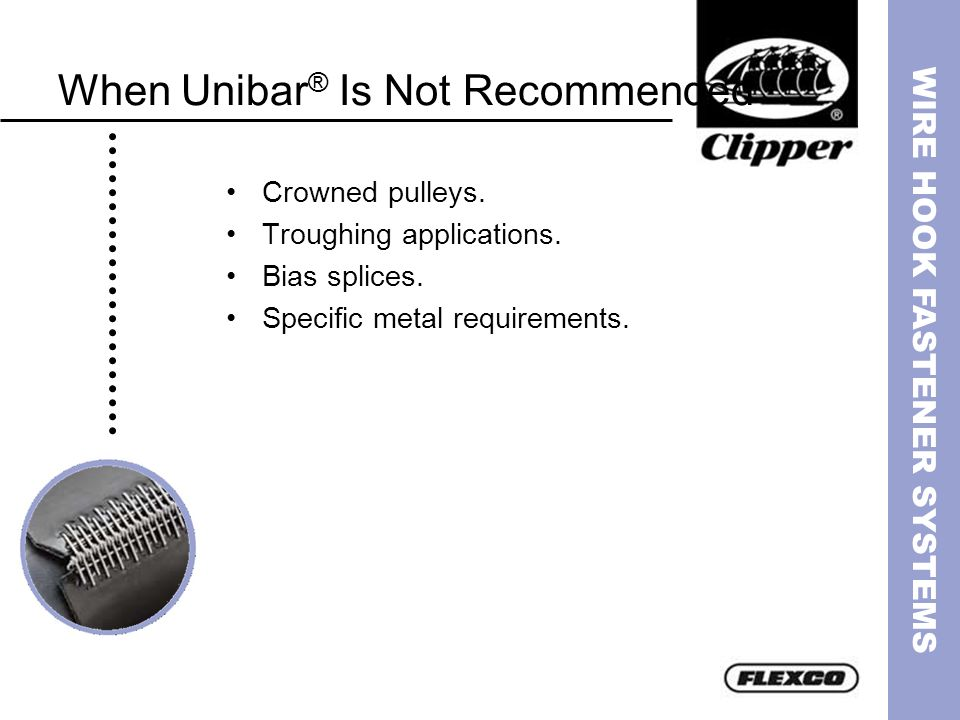 When Unibar® Is Not Recommended