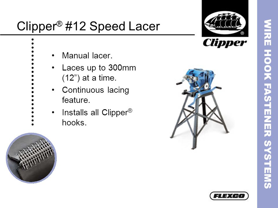 Clipper® #12 Speed Lacer Manual lacer.