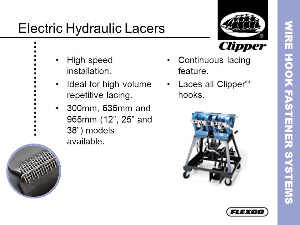 Electric Hydraulic Lacers