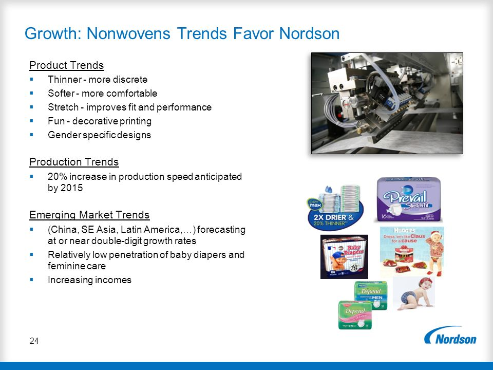 Growth: Nonwovens Trends Favor Nordson